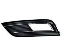 Решетка бампера левая черная/хром Audi A4 B8 рестайл 12-, Polcar
