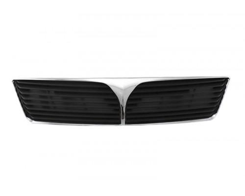 Решетка радиатора темно-серая без отверстия под эмблему Mitsubishi Lancer 01-, TYG