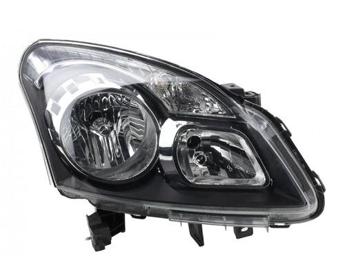 Фара правая Renault Koleos 08-10 с темным отражателем, Depo